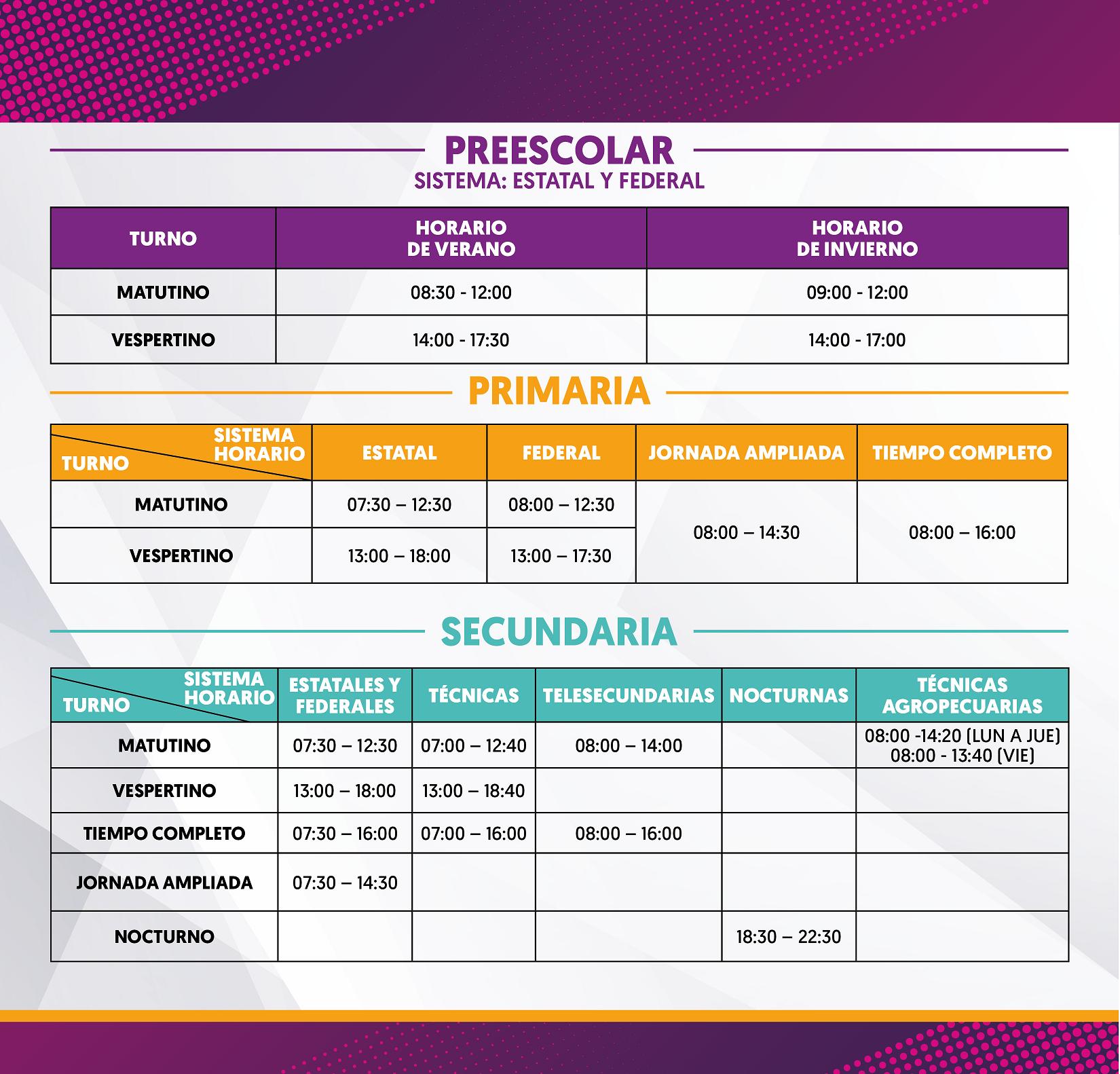 Calendario Escolar 2020 Las Palmas.Horarios Para Las Escuelas De Nuevo Leon Nl Gob Mx