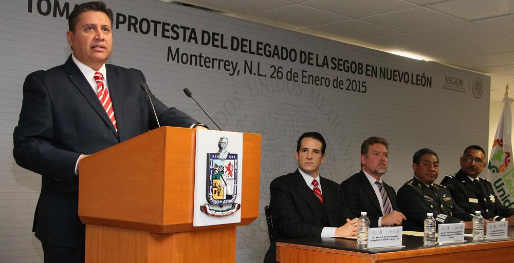 Toma de protesta de Manuel Alejandro del Villar González, como nuevo delegado de la Secretaría de Gobernación en la entidad.