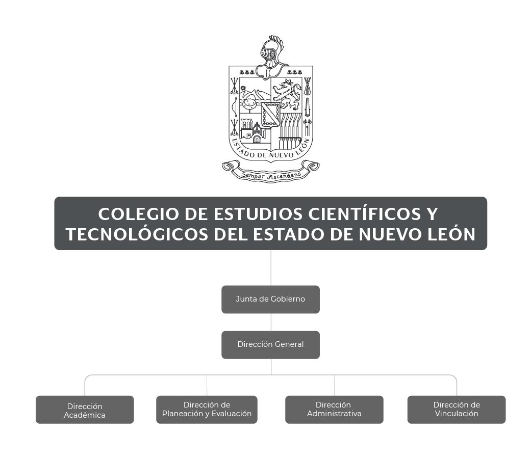 Organigrama del Colegio de Estudios Científicos y Tecnológicos del Estado de Nuevo León