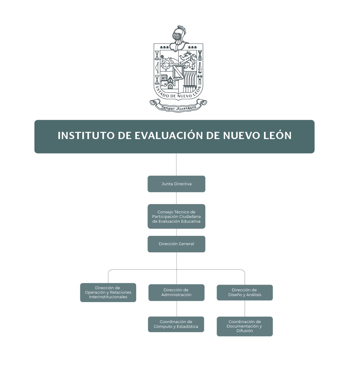 Organigrama del Instituto de Evaluación Educativa de Nuevo León