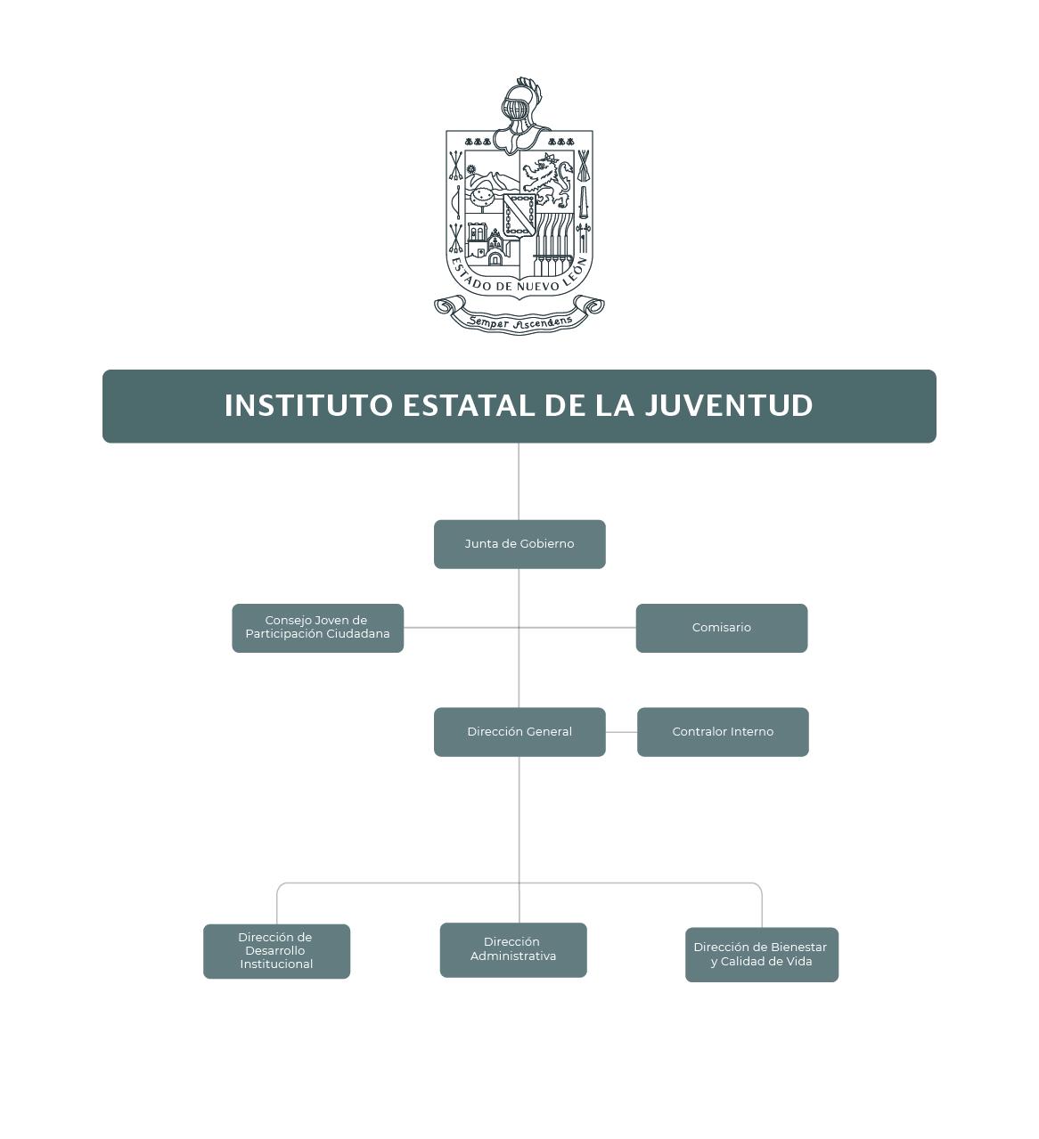Organigrama del Instituto Estatal de la Juventud