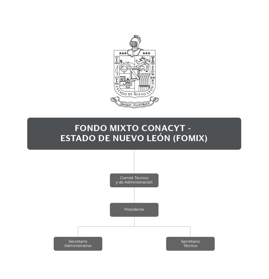 Organigrama del Fideicomiso Fondo Mixto CONACyT Estado de Nuevo León (FOMIX)