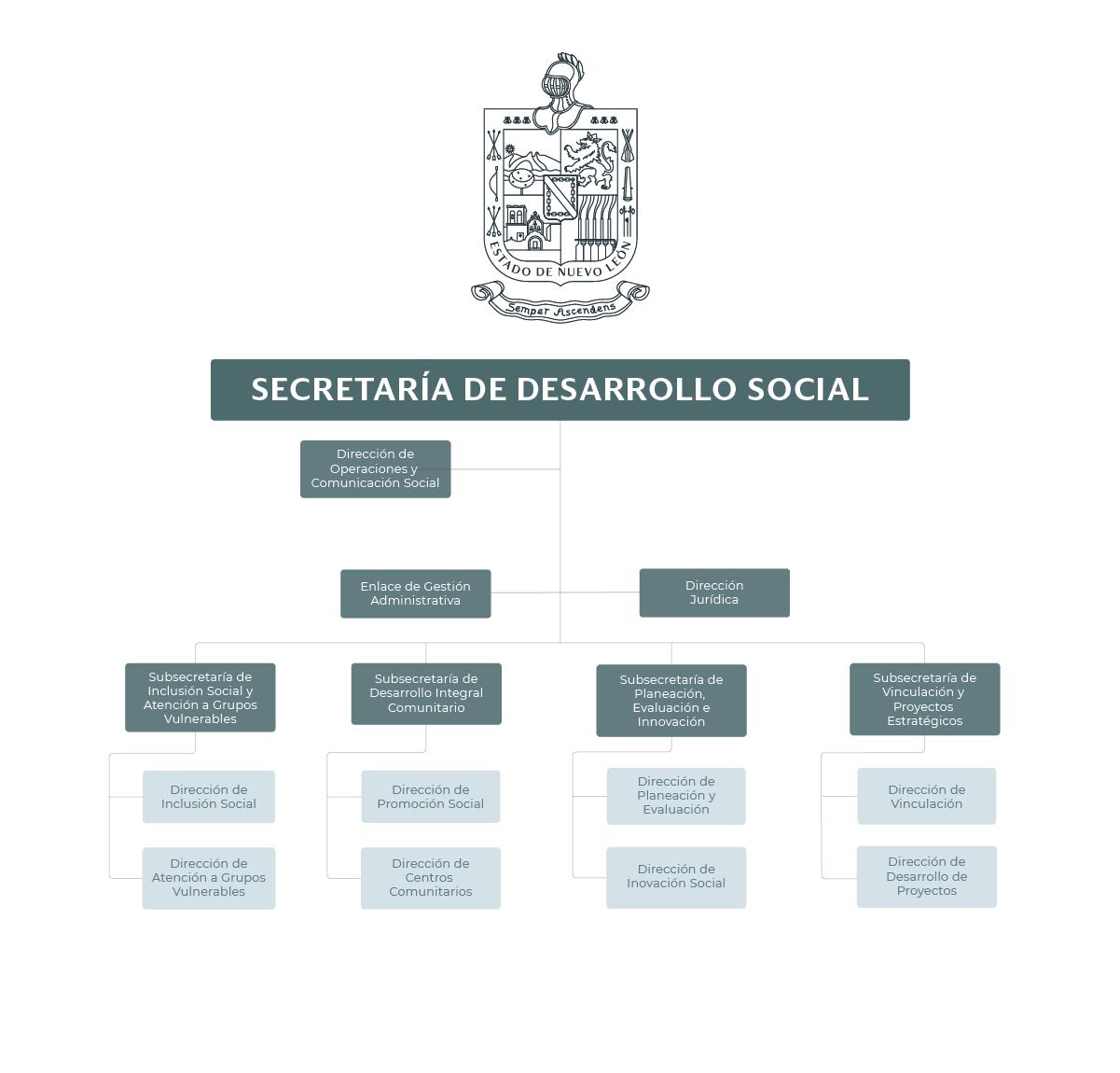 Organigrama de la Secretaría de Desarrollo Social