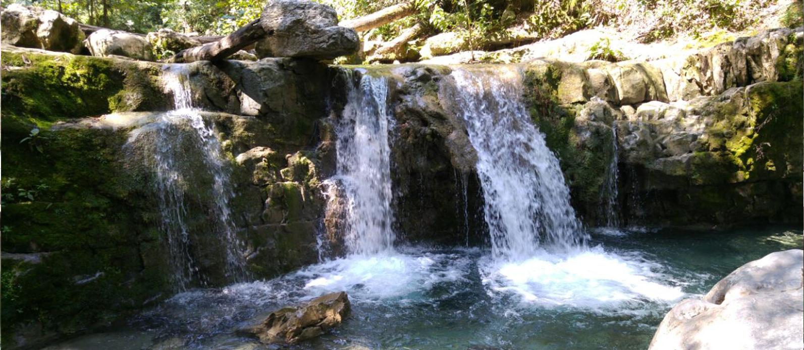 Fondo de campaña de Cascadas en el Parque la Estanzuela