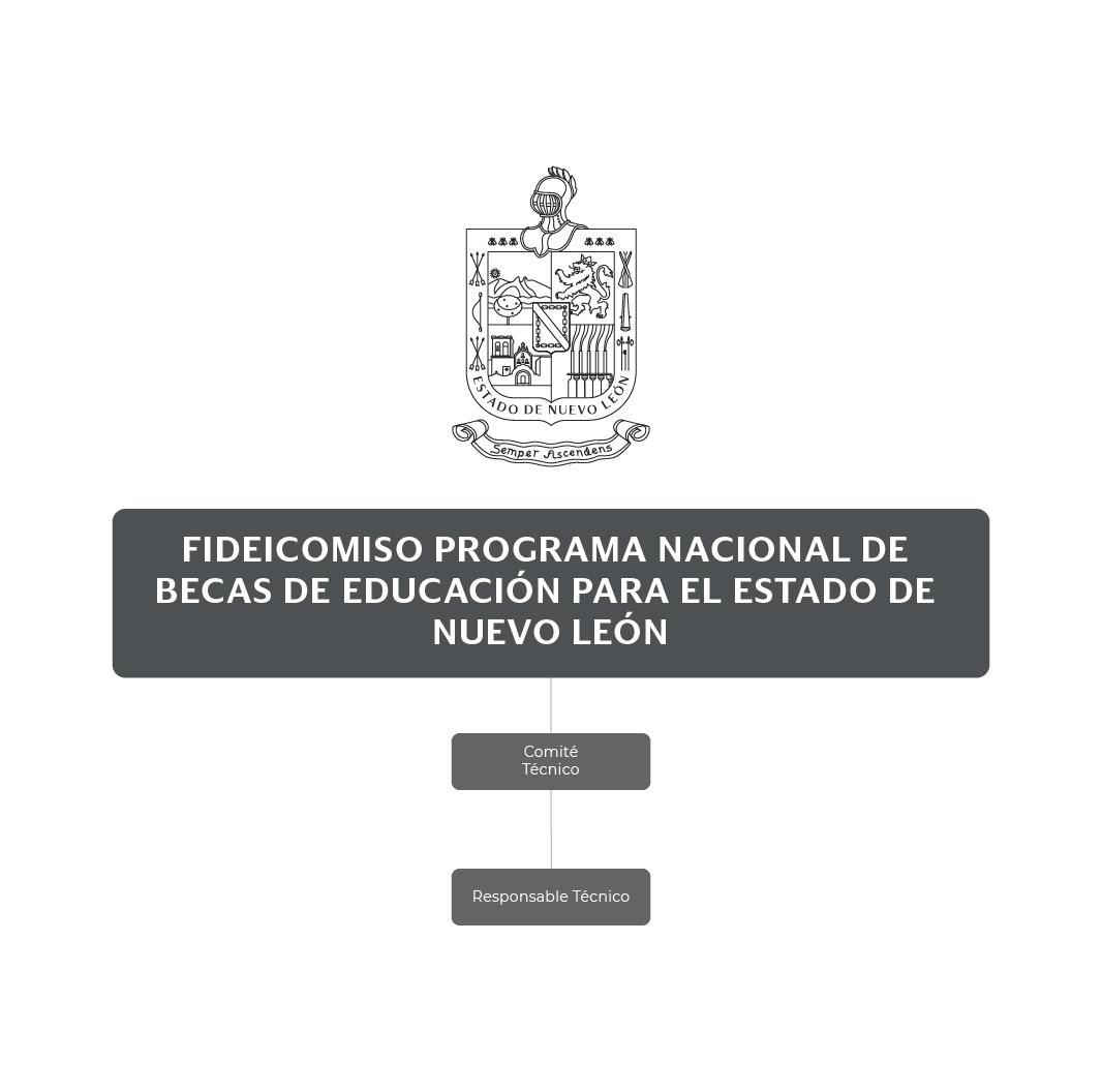 Organigrama del Fideicomiso Programa Nacional de Becas de Educación para el Estado de Nuevo León