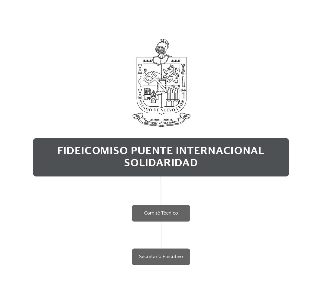 Organigrama del Fideicomiso Puente Internacional Solidaridad