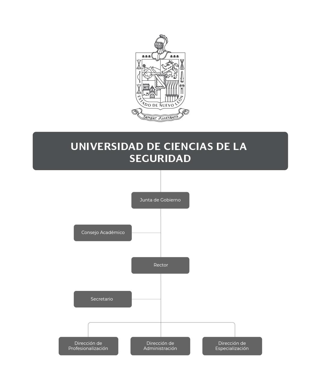 Organigrama de la Universidad de Ciencias de la Seguridad