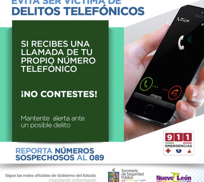 Evita ser víctima de delitos telefónicos