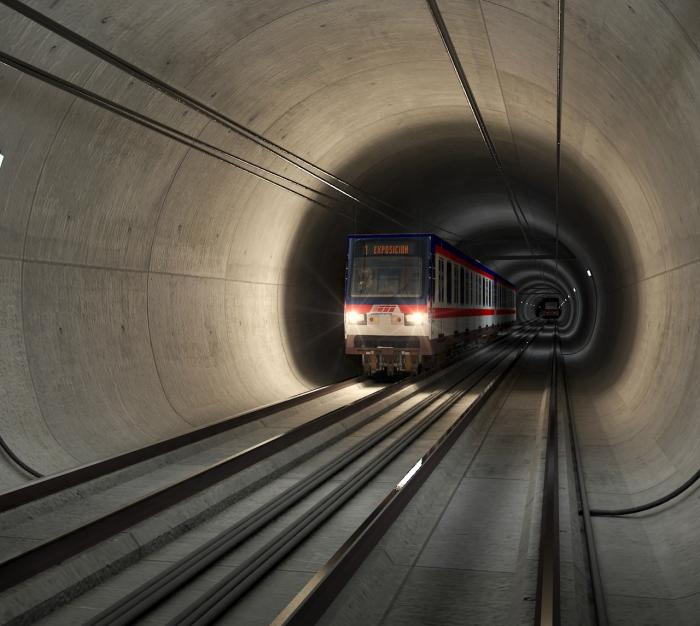 Túnel Línea 3 del Metro