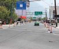 Realizan Secretaría de Desarrollo Sustentable y organización civil CAMINA Centro de Estudios de Movilidad Peatonal una actividad de urbanismo táctico en zona del Pabellón Ciudadano.