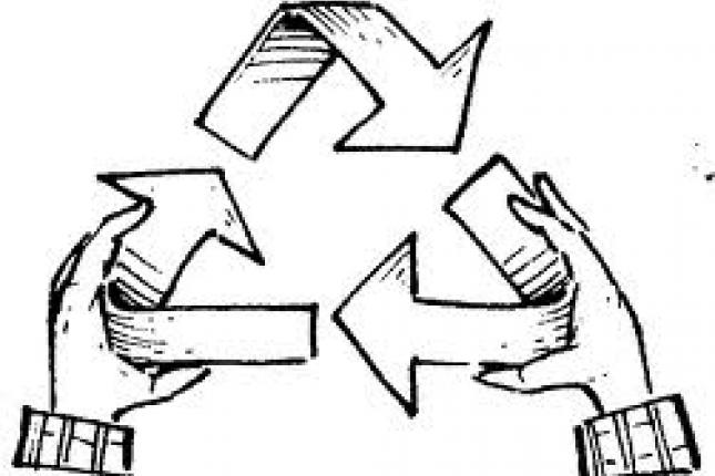 Símbolo mundial del reclaje