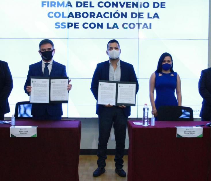 SSP y COTAI firman convenio de colaboración