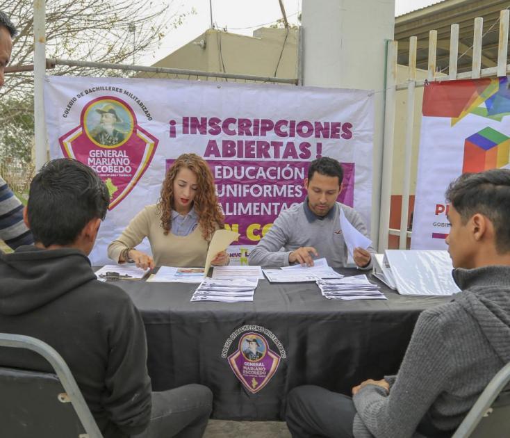 Arrancan inscripciones de Preparatorias Militarizadas en Juárez y Pesquería