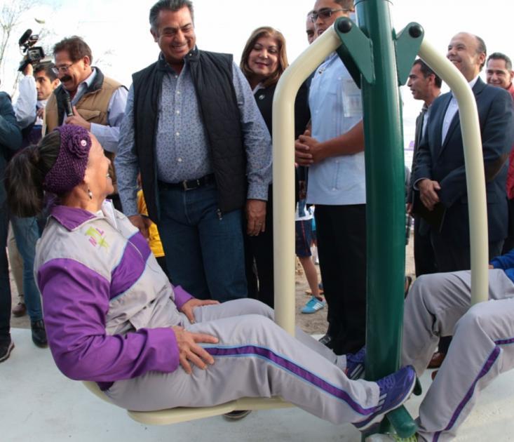 Instalará Gobierno 100 gimnasios al aire libre