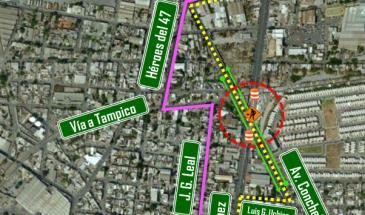 Alternativas viales por cierre total de Félix U. Gómez en su cruce con Conchello