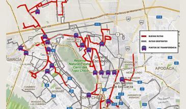 Rutas de transporte público Escobedo
