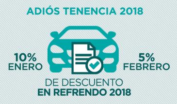 ¡Paga tu Refrendo Vehicular 2018 en enero y ahorra!