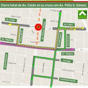 Cierre total Colón y Félix U. Gómez por obras del Metro