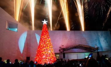 Encendido del pino navideño de 3 Museos