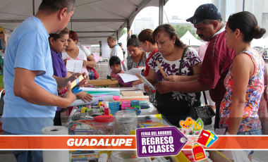 Feria regreso a clases en Guadalupe