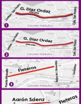 Rehabilitación de avenidas en Monterrey