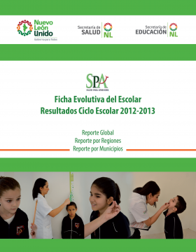 Resultados del Programa Salud para aprender (SPA) / Ficha evolutiva del escolar 2012 - 2013