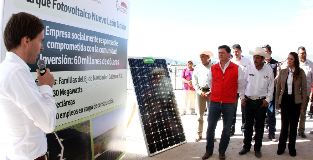 Anuncia Gobernador Rodrigo  Medina instalación del primer Parque Fotovoltaico de Nuevo León