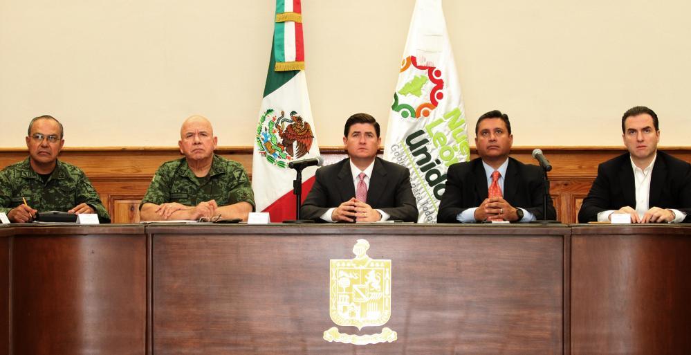 El Gobernador Rodrigo Medina de la Cruz, encabezó este miércoles la reunión semanal del Grupo de Coordinación.