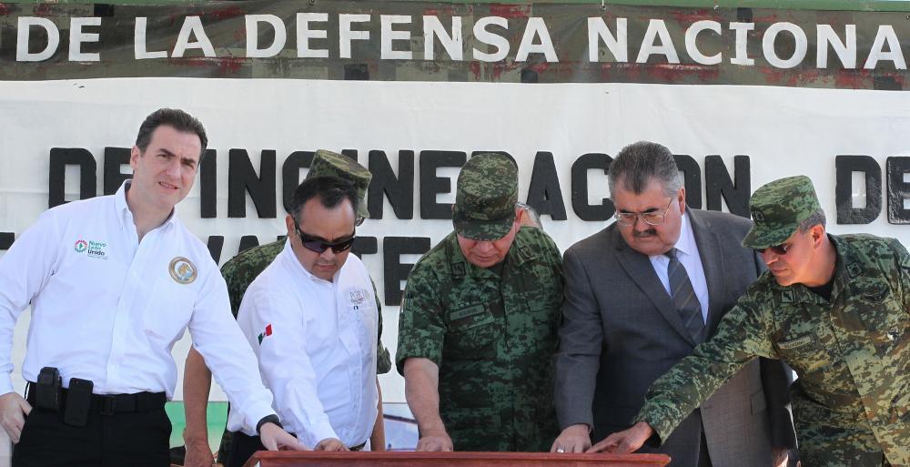 Destruyen autoridades drogas valuadas en más de 80 mil millones de pesos