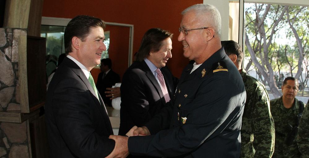 Revisan autoridades avance en la construcción del nuevo cuartel para la Policía Militar