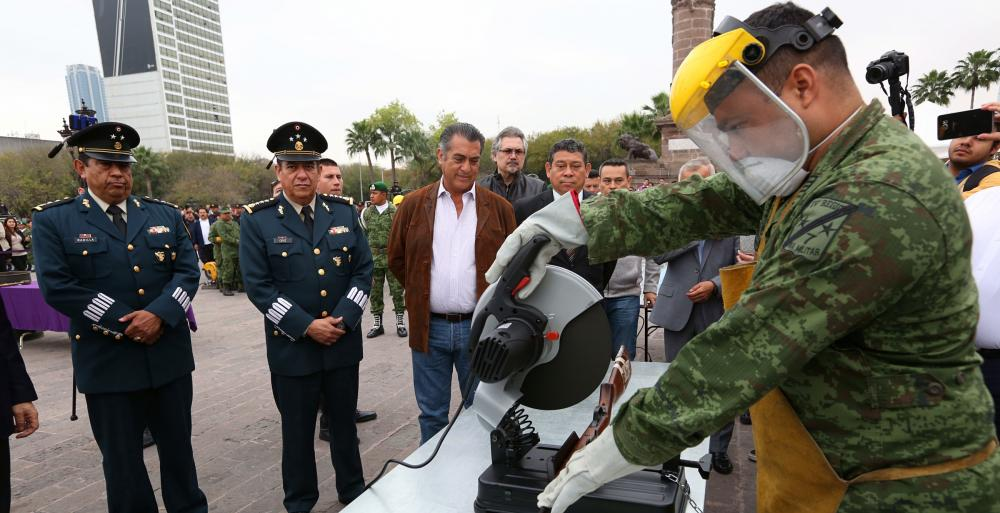 Destruyen Estado y Ejército Mexicano más de 5 mil armas