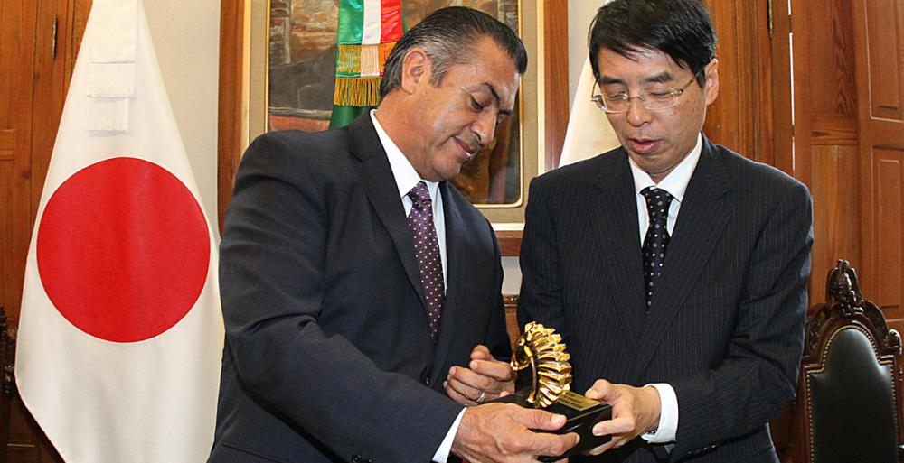 Recibe Bronco a diplomáticos de Japón y EU