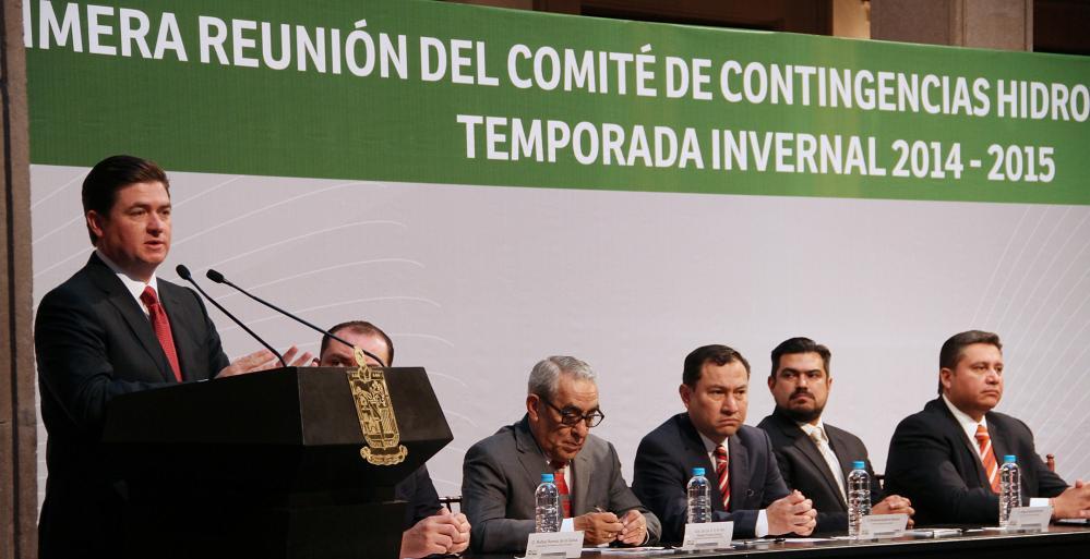 este lunes el Consejo de Protección  Civil de Nuevo León instaló el Comité de Contingencias Hidrometeorológicas para la temporada invernal.