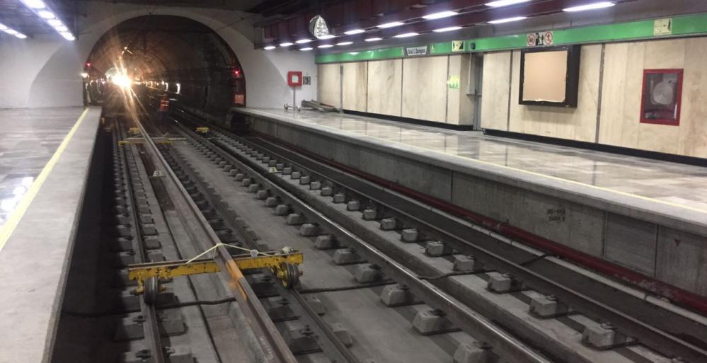 Concluye mantenimiento en vías de tramo de Línea 2
