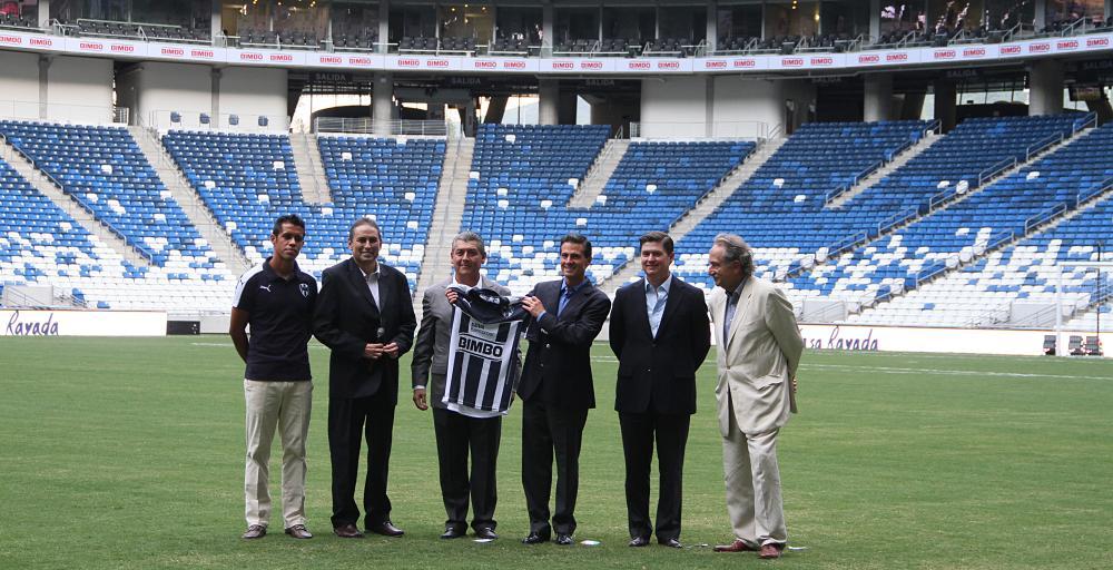 Inauguran Presidente de la República y Gobernador del Estado nuevo estadio de futbol de los Rayados del Monterrey
