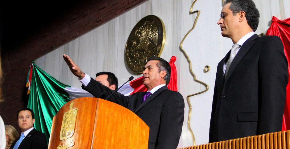 Jaime Rodriguez al tomar protesta como Gobernador de Nuevo León