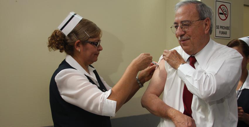 Refuerza Estado Campaña de vacunación contra la Influenza