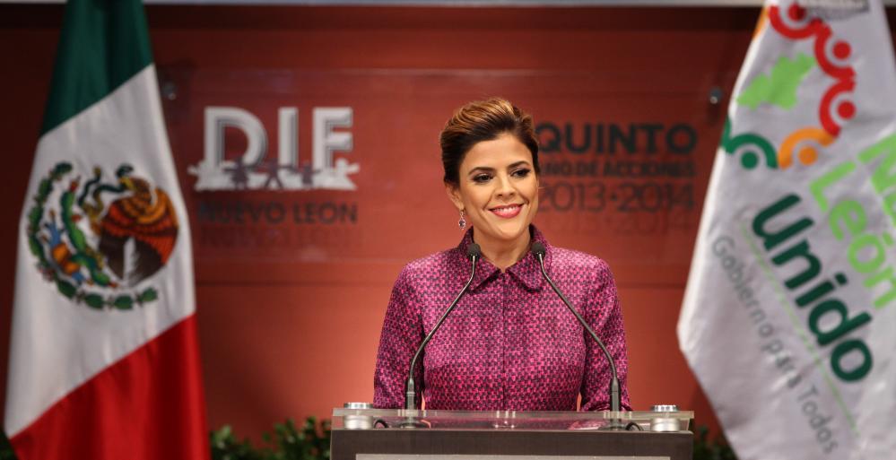 Rinde quinto informe de actividades la Presidenta del Patronato del DIF Nuevo León