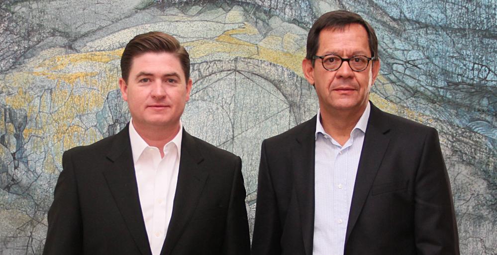 Dialogan Gobernador Rodrigo Medina y Subsecretario de Derechos Humanos de SEGOB, Roberto Campa Cifrián