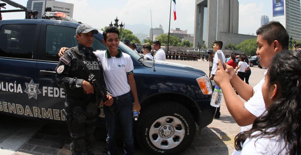 Da Nuevo León cálida bienvenida a Gendarmería
