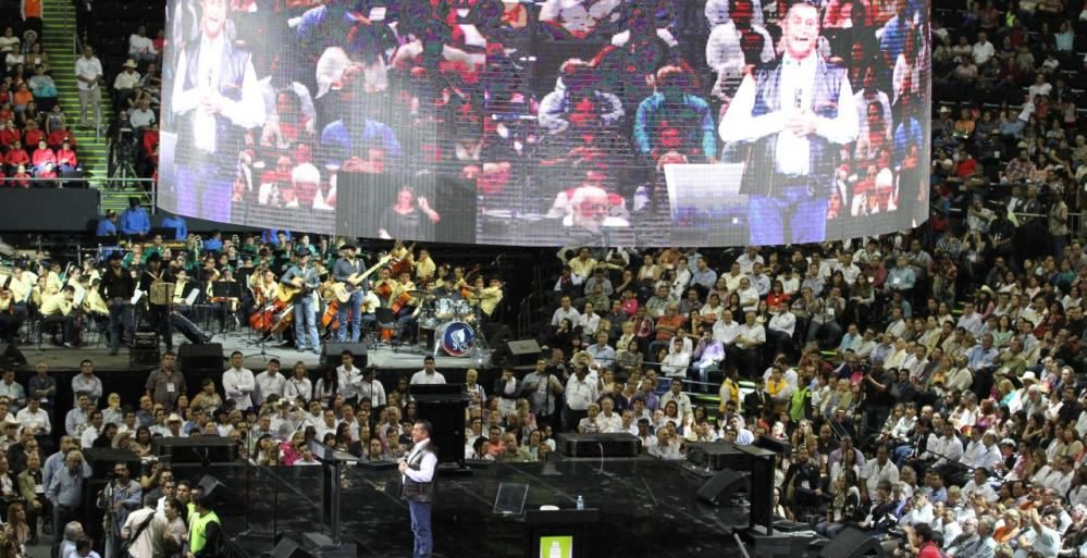 Jaime Rodriguez en la Arena Monterrey