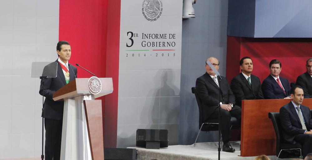 Destaca el Presidente Enrique Peña Nieto a Nuevo León en su Tercer Informe por el combate a la criminalidad.