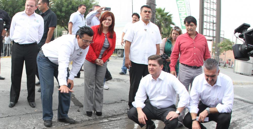 Comienza Gobierno Estatal programa de rehabilitación de pavimento en Guadalupe