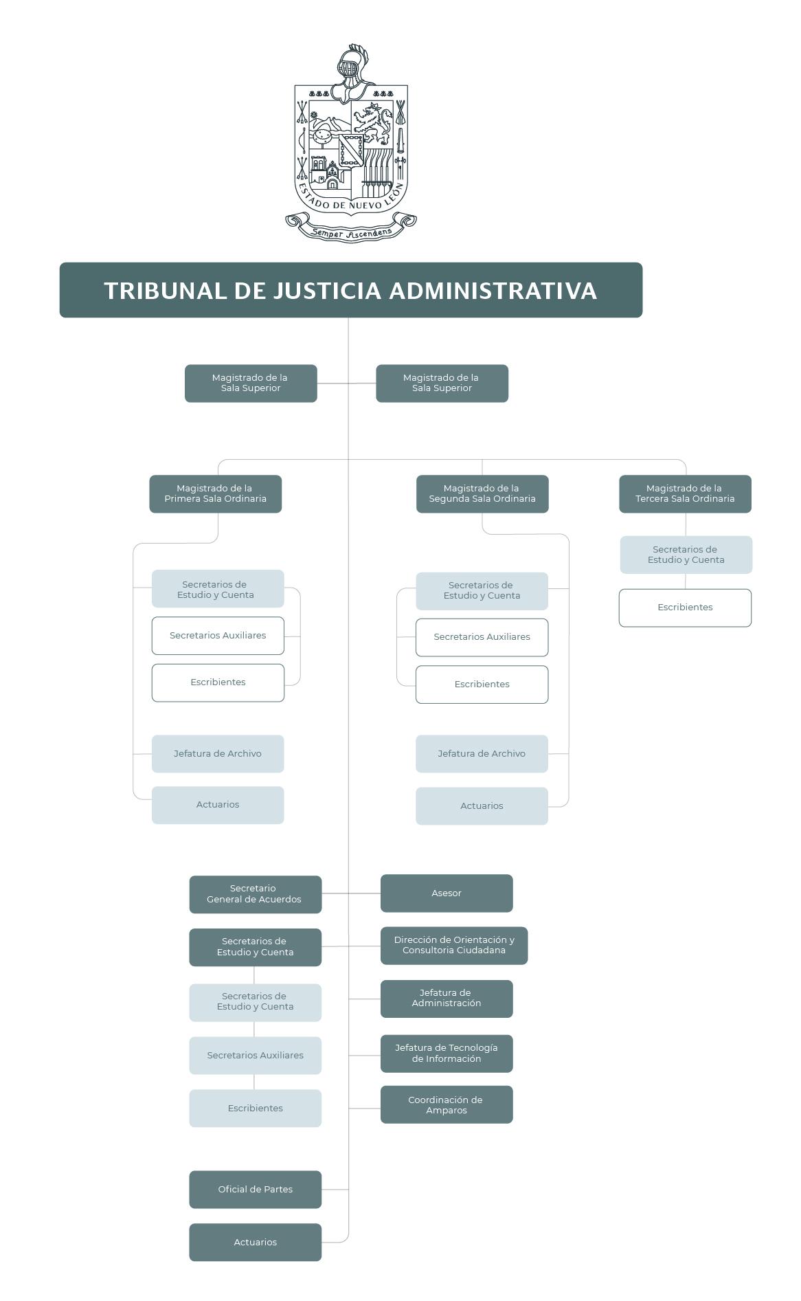 Organigrama del Tribunal de Justicia Administrativa